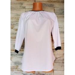Bluzka biała elegancka z cekinami